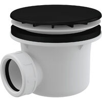 AlcaPlast SHOWER WASTE AND TRAP (A49BLACK)