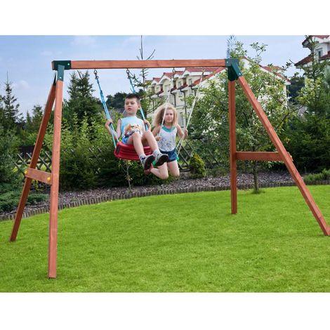 alce gioco da esterno in legno per bambini altalena fly