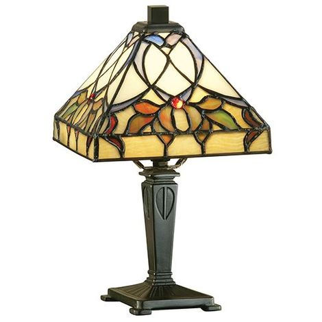 Alcea Mini Tiffany Style Table Lamp - Interiors