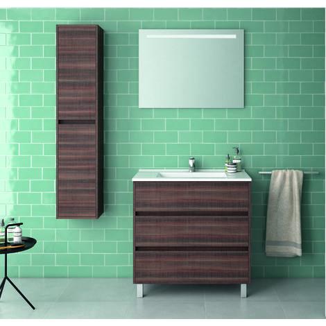 Alcoa Mueble de baño 3 cajones con lavabo ceramico 80 cms.
