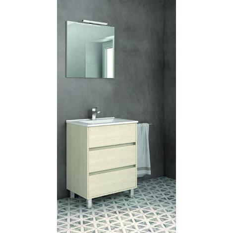 Alcoa Mueble de baño 3 cajones incluye lavabo ceramico 60 cms. Taiga