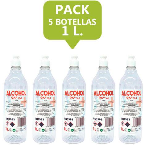 Alcohol 96º Garrafa De 5L