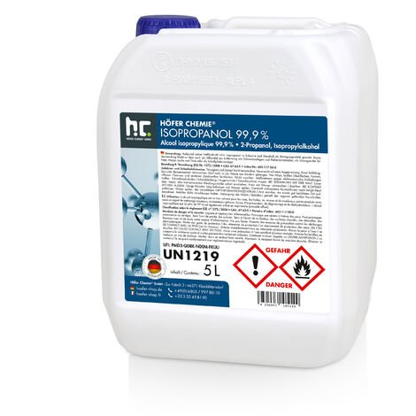 Alcool isopropylique 99,9 % - différentes quantités