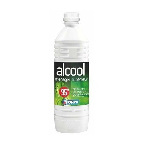 Alcool ménager 95° bouteille1 lITRE - ONYX
