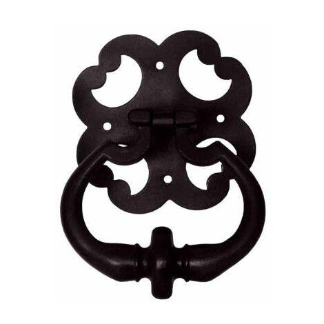 Aldaba de hierro fundido - acabado negro
