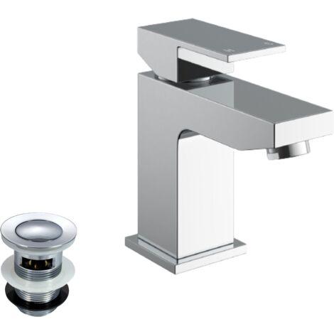 "main image of ""Aldo Bathroom Basin Mixer Tap & Waste Chrome"""
