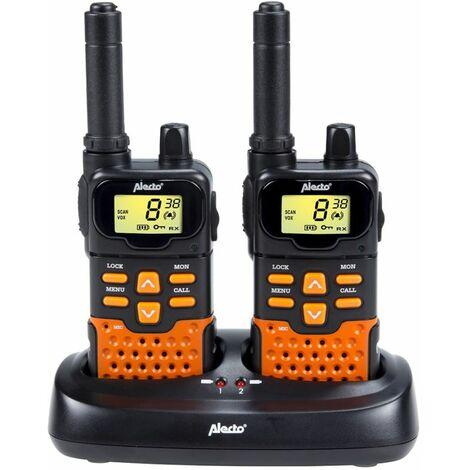 Alecto Jeu de talkies-walkies jumeaux FR-70 noir et orange
