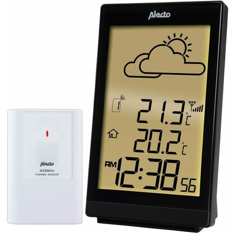 Alecto Wireless Weather Station WS-2200 Black