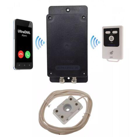 Alerte fuite d'eau inondation GSM 2G+3G 100% autonome (alimentation 3 piles) avec 1 télécommande (gamme BT)