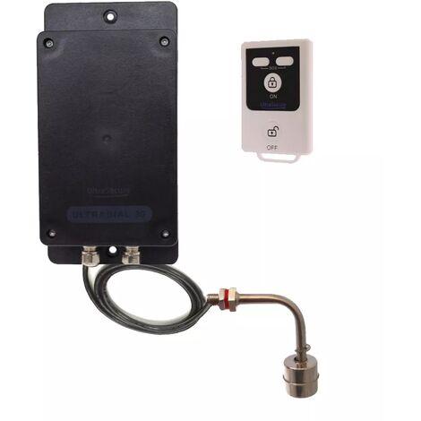 Alerte niveau d'eau GSM 2G+3G 100% autonome UltraDIAL avec 1 flotteur inox et 1 télécommande (gamme BT)