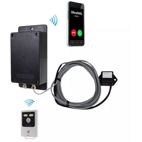 Alerte vibration GSM 2G+3G 100% autonome UltraDIAL avec 1 détecteur et 1 télécommande (gamme BT)
