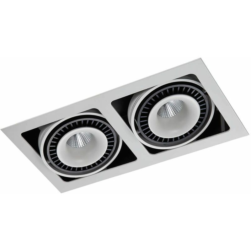 Image of Alesso technical and modern recessed ceiling lamp Matt white, aluminum black