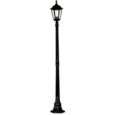 ALEX OUTDOOR POST LAMP - 1 LIGHT BLACK