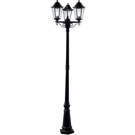 ALEX OUTDOOR POST LAMP - 3 LIGHT BLACK