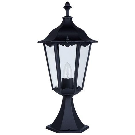 ALEX OUTDOOR POST LAMP - SMALL 1 LIGHT BLACK