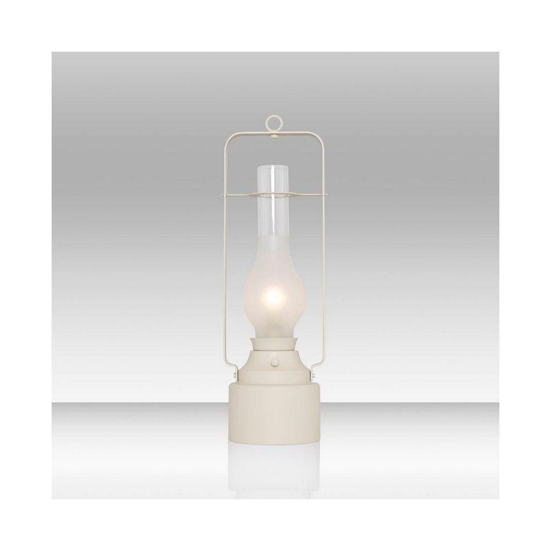 Homemania - Alex Tischlampe - vom Schreibtisch, Buero, Nachttisch - Weiss aus Metall, Glas, 16 x 16 x 51 cm, 1 x Striscia LED, 5W, 500LM, 3000K