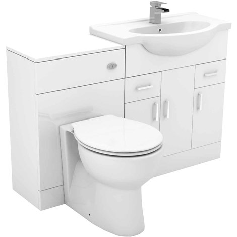 Alexander James 1250mm Vanity Unit Toilet Suite