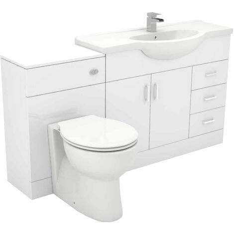 Alexander James 1550mm Vanity Unit Toilet Suite