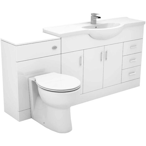 Alexander James 1700mm Vanity Unit Toilet Suite
