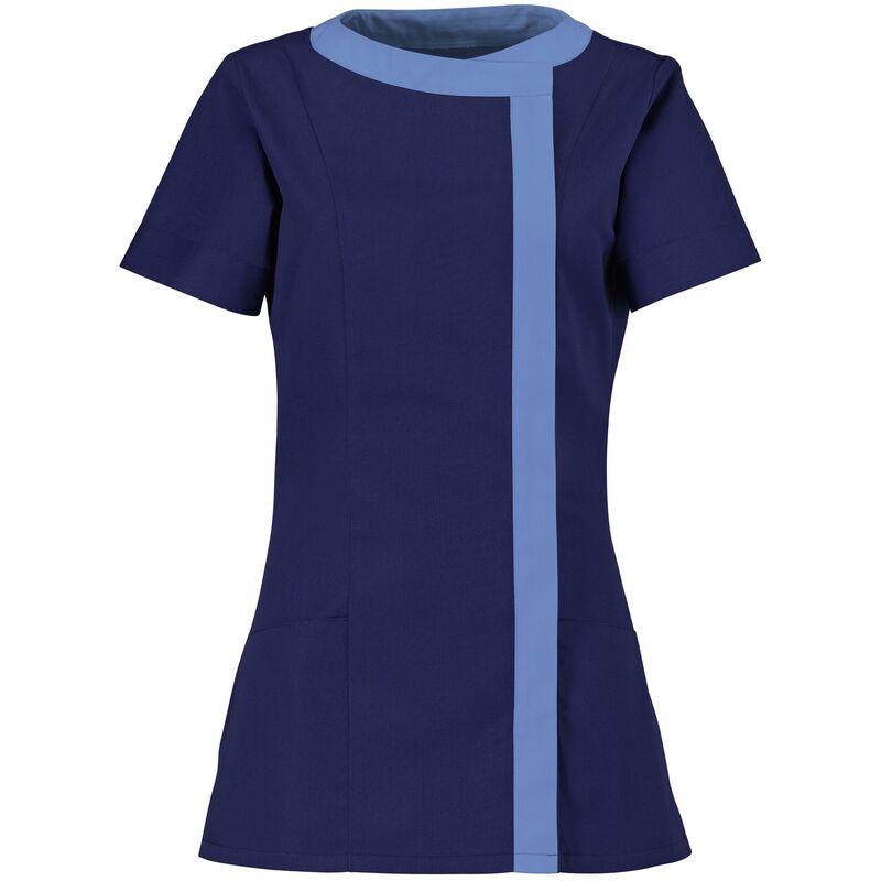 Image of Womens Asymmetric Tunic / Health Beauty / Medical Workwear (8) (Navy/ Metro) - Alexandra
