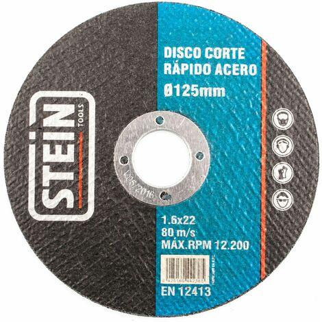 ALFA disco amoladora corte rapido acero 125mm 1,6mm 50 unidades