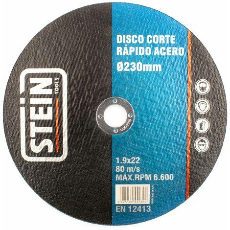 ALFA disco amoladora corte rapido acero 230mm 1,9mm 25 unidades