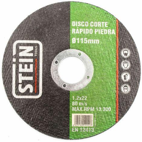 ALFA disco amoladora corte rapido piedra 115mm 1mm 50 unidades