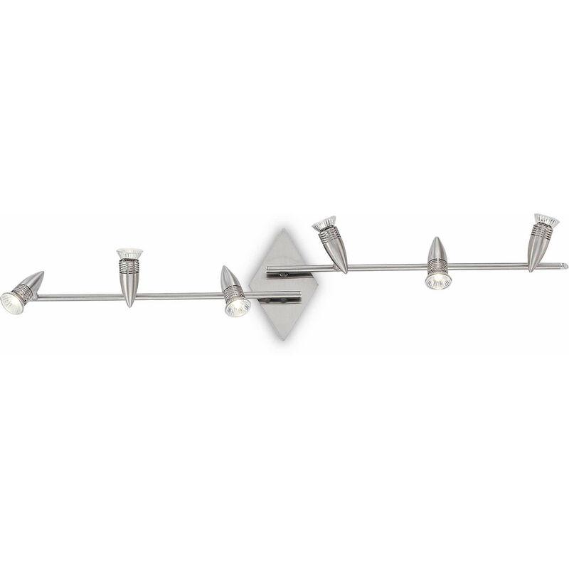ALFA Nickel Deckenleuchte 6 Lampen - 01-IDEAL LUX