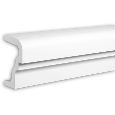 Alfeizar de ventana Profhome 482001 Moldura para exteriores Elemento de fachada Elemento decorativo diseño moderno blanco 2 m
