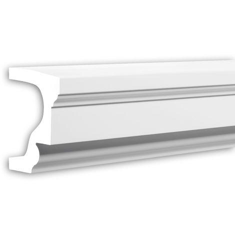 Alfeizar de ventana Profhome 482002 Moldura para exteriores Elemento de fachada Elemento decorativo estilo Neoclasicismo blanco 2 m