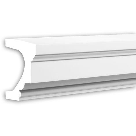 Alfeizar de ventana Profhome 482003 Moldura para exteriores Elemento de fachada Elemento decorativo estilo Neoclasicismo blanco 2 m