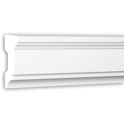 Alfeizar de ventana Profhome 482101 Moldura para exteriores Marco para ventanas Elemento de fachada estilo Neoclasicismo blanco 2 m