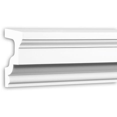 Alfeizar de ventana Profhome 482201 Moldura para exteriores Marco para ventanas Elemento de fachada estilo Neoclasicismo blanco 2 m