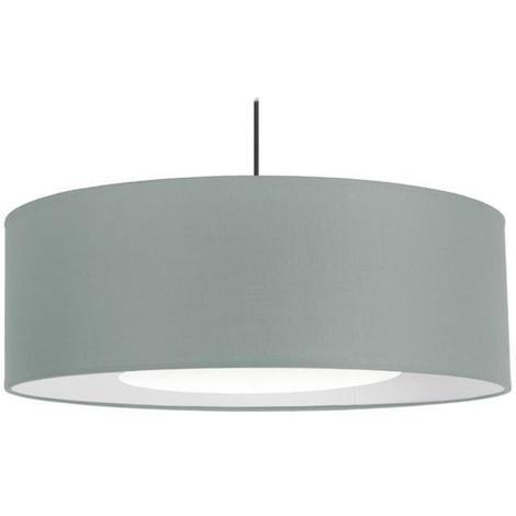 ALFENA60D Lustre - suspension. Cotton cylindre diametre 60 cm. reflecteur 30 cm. gris Tosel