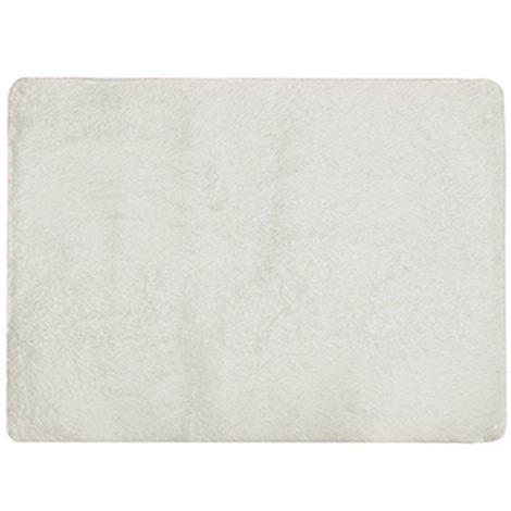 Alfombra antideslizante de lana de seda, 1200 * 1700 mm, espesor 45mm,Blanquecino