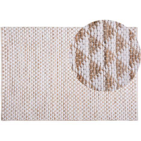 Alfombra de algodón, poliéster y yute 160x230 cm TUNCELI
