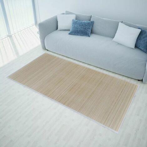 Alfombra de bamb¨² natural rectangular, 80 x 300 cm