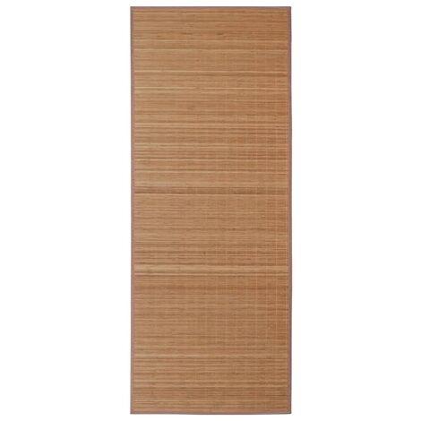 Alfombra de bambú 100x160 cm marrón
