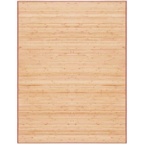 Alfombra de bambú 150x200 cm marrón