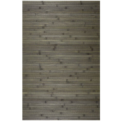 Alfombra de Bambú natural antideslizante, ideal para salón, cocinas, baños…, Étnica Gris