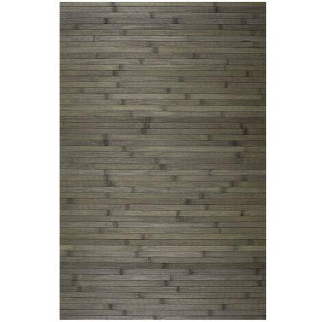 Alfombra de Bambú natural antideslizante, ideal para salón, cocinas, baños…, Gris