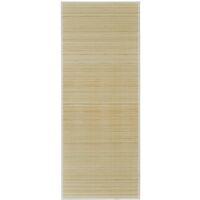 Alfombra de bambú natural rectangular, 120 x 180 cm