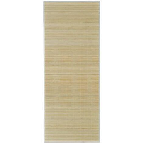 Alfombra de bambú natural rectangular, 150 x 200 cm
