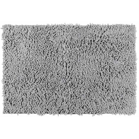 Alfombra de baño Chenille gris claro