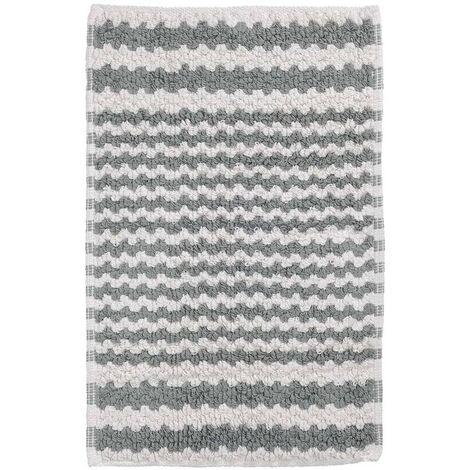 Alfombra de baño gris a rayas, 50 x 80 cm, Sealskin 294445414