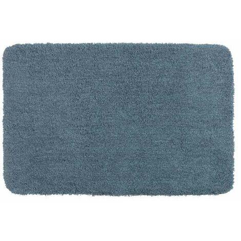 Alfombra de baño Mélange azul marino