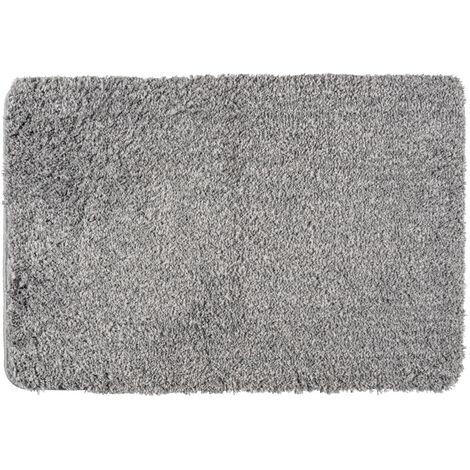 Alfombra de baño Mélange gris claro
