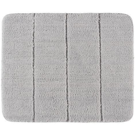 Alfombra de baño Steps gris claro
