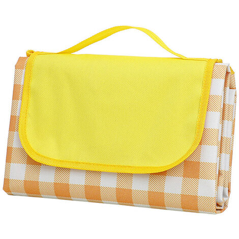 Alfombra de camping plegable para picnic al aire libre Alfombra de picnic Manta de picnic Alfombra de camping impermeable, Amarillo, 145X200