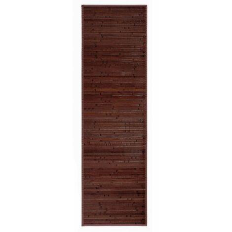 Alfombra de color chocolate pasillera de Bambú natural para pasillo, 60x200cm - Natural - Hogar y más